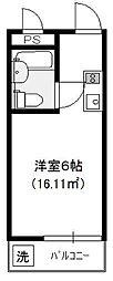スカイコート橋本第2[1階]の間取り