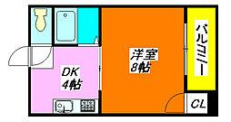 エミネント・ダイキ 208号室[2階]の間取り