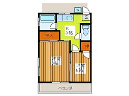 光和荘[1階]の間取り