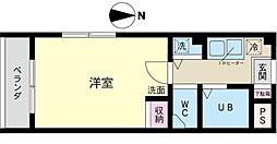 ビューハイムコヤナギ睦[3階]の間取り