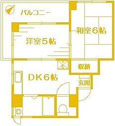 ライジングビルヨシザキ[4階]の間取り