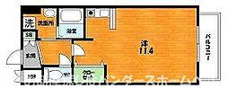 大阪府枚方市津田駅前1丁目の賃貸マンションの間取り