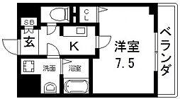 プラディオ徳庵セレニテ[406号室号室]の間取り