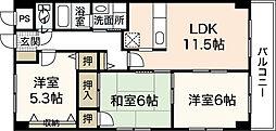 グランカーサ古江[5階]の間取り