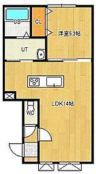 美芳町新築物件[1-B号室]の間取り