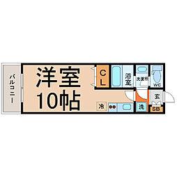愛知県名古屋市熱田区横田2丁目の賃貸マンションの間取り