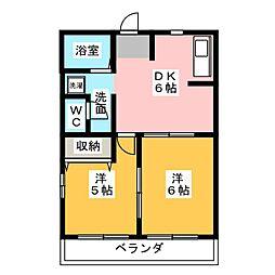 グリーンハイム21[2階]の間取り