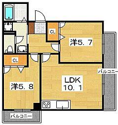 ベルヴィラージュ[2階]の間取り