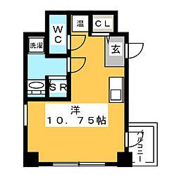 Dterrace Tokyo 8階ワンルームの間取り
