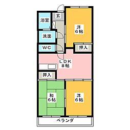 ウインザーK&Yマンション[4階]の間取り