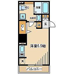 東京都府中市清水が丘1丁目の賃貸マンションの間取り