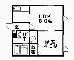 ライフゾーンN47[301号室]の間取り