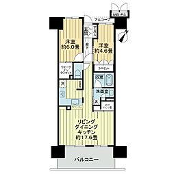 ワコーレ神戸三宮トラッドタワー[17階]の間取り
