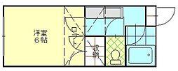 ヴィラージュu八橋[205号室]の間取り