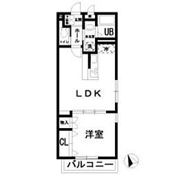 JR南武線 矢川駅 徒歩7分の賃貸アパート 2階1LDKの間取り
