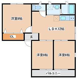 シティハイムアバンテ[1階]の間取り