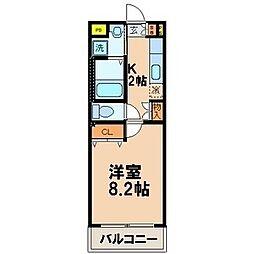 WIN 黒崎[2階]の間取り