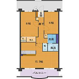 ハートフルマンション Villa Luna[B103号室]の間取り