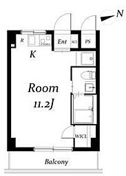 中台ビル[4階]の間取り