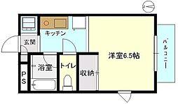 エントピア湘南(家具付)[1階]の間取り