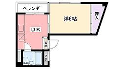 大林マンション[202号室]の間取り