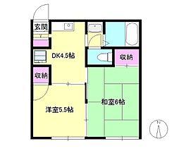 東京都八王子市台町1丁目の賃貸アパートの間取り