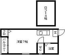 リヴァージュ清川[2階]の間取り