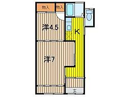 森沢荘[2階]の間取り