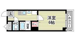 兵庫県神戸市灘区日尾町3の賃貸マンションの間取り