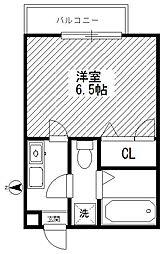 神奈川県川崎市中原区新城3丁目の賃貸アパートの間取り