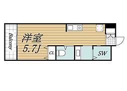 JR総武線 千葉駅 徒歩20分の賃貸アパート 1階ワンルームの間取り
