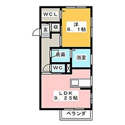 グレイス見川B[1階]の間取り