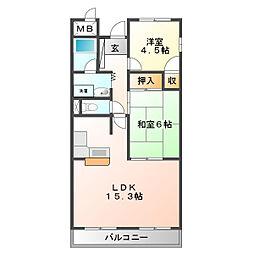 ユタカ第二ビル[6階]の間取り