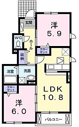 ベル・ラフレシールA[1階]の間取り