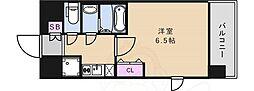 グランカリテ日本橋 7階1Kの間取り