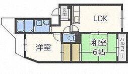 シャトー32[1階]の間取り