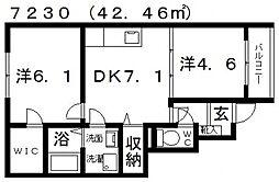 メゾン・ド・ルミエール[101号室号室]の間取り