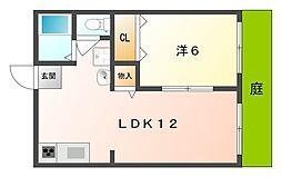 サンハイツI[1階]の間取り