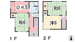 [一戸建] 兵庫県姫路市西庄甲 の賃貸【/】の間取り