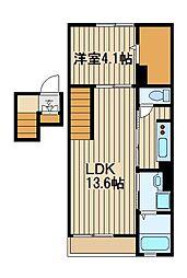 東京都練馬区西大泉6の賃貸マンションの間取り