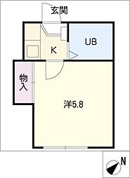 グレース横須賀[1階]の間取り