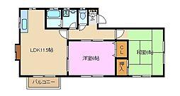 神奈川県横浜市泉区中田北2丁目の賃貸アパートの間取り