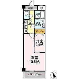 仮)愛甲西店舗付共同住宅[202号室]の間取り