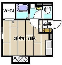 福岡県中間市蓮花寺2丁目の賃貸アパートの間取り