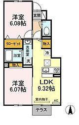 仮)D-room知古[106号室]の間取り