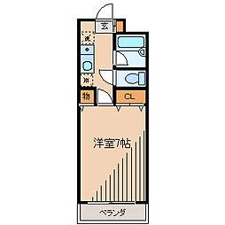 神奈川県相模原市南区相模大野6の賃貸マンションの間取り