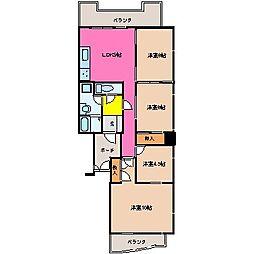 ロイヤル陽光園[4階]の間取り