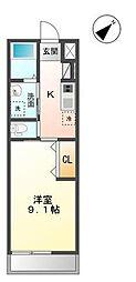 袖ケ浦市代宿97番5他新築アパート[205号室]の間取り