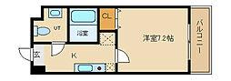 兵庫県神戸市垂水区名谷町の賃貸マンションの間取り