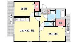 兵庫県神戸市東灘区魚崎西町4丁目の賃貸アパートの間取り